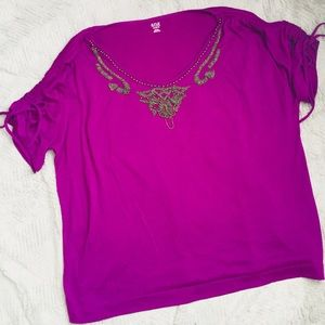 Deep Purple Hanging Beaded Top